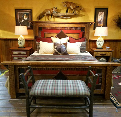 Rustic lodge style bedroom furniture